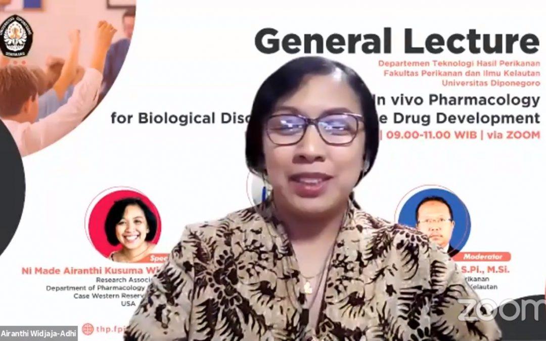Kuliah Umum online Ibu Ni Made Airanthi Kusuma Widjaja Adhi, Ph.D.